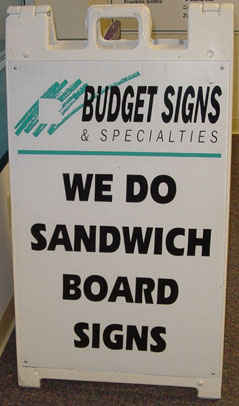 Sandwich Board Signs Budget Signs Amp Specialties Madison Wi