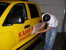 Vinyl Lettering & Vehicle Graphics