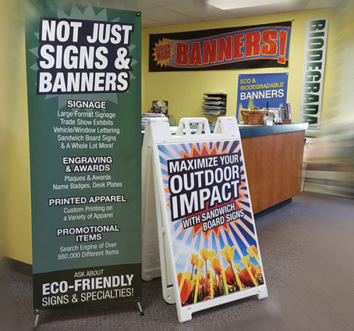 Signs, Banners & Sandwich Boards from Budgets SIgns & Specialties, Madison, WI
